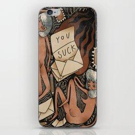 U suck iPhone Skin