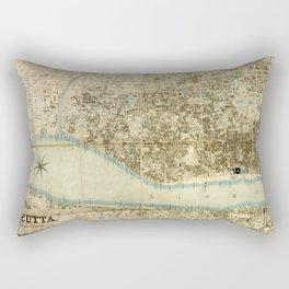 Map Of Calcutta 1857 Rectangular Pillow