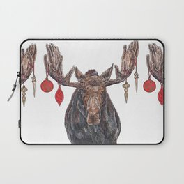 Moose with Baubles Laptop Sleeve