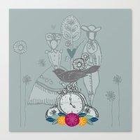 folk Canvas Prints featuring Folk by karyn johnstone
