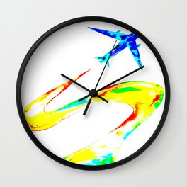 Rainbow Jet Wall Clock