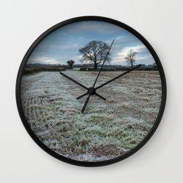 Frosty Fields Wall Clock