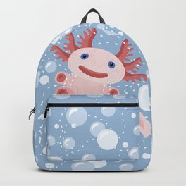 Cute Axolotl and The Bubbles Backpack