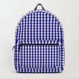 Mini Australian Flag Blue Gingham Check Plaid Backpack