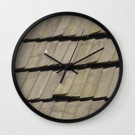 Texture #16 Roof tiles. Wall Clock