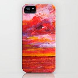 Red Fiery Ocean Sunset iPhone Case