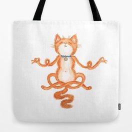 Zen Cat Meditation Tote Bag