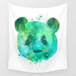 Watercolor Panda Painting Wall Tapestry