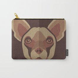 Brownie- Chihuahua Pet Design in Warm and Modern Colors for Pet Lovers Carry-All Pouch