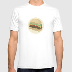 Totally a Burger MEDIUM Mens Fitted Tee White
