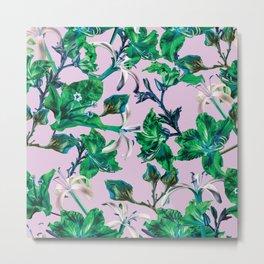 Tropical Bramble Purple Metal Print