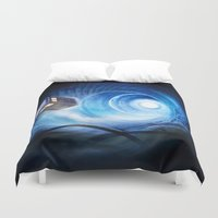 doctor Duvet Covers featuring Doctor Who by Joe Roberts