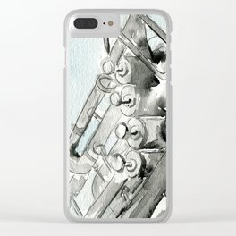 Tuba pistons Clear iPhone Case