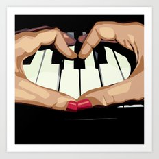 For the Love of Music Art Print