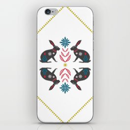Folk Hares iPhone Skin