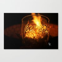 coca cola Canvas Prints featuring Coca Cola by CharlieRae