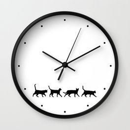 Kitty Conga Line Wall Clock