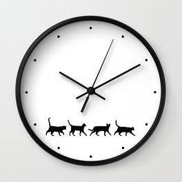 Kitty Conga Line Wall Clock