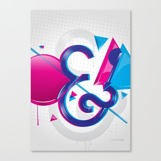 Circles & Triangles Canvas Print