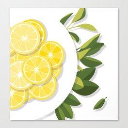 Citrus Plate Canvas Print