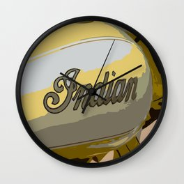 Indian Scout yellow motorcycle Wall Clock
