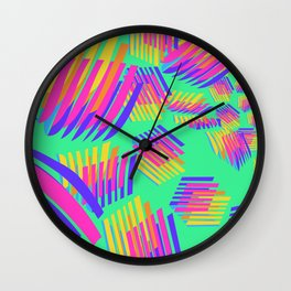 Spring breakers - geometric color Wall Clock