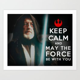 Keep Calm Star Wars - Alec Guinness Art Print