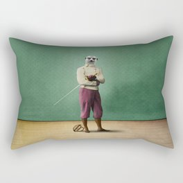 Milton Meerkat: Fencing Master Rectangular Pillow