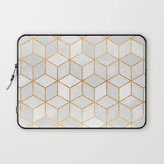 White Cubes Laptop Sleeve