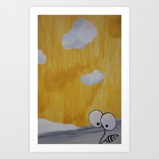 Plant with Yellow Sky Art Print
