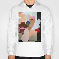 penis Hoodies featuring Penis Collage by vooduude