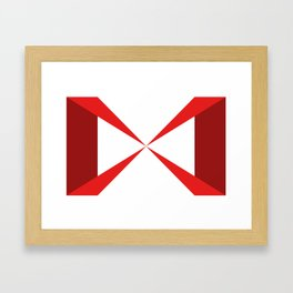 Simple Construction Red Framed Art Print