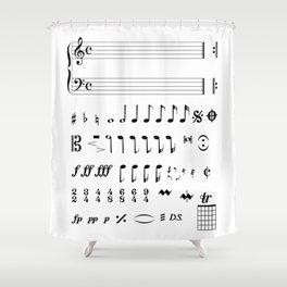 Musical Notation Shower Curtain