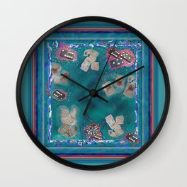 Surreal Lake Art and Poem Wall Clock