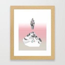 Domestic landscape Framed Art Print