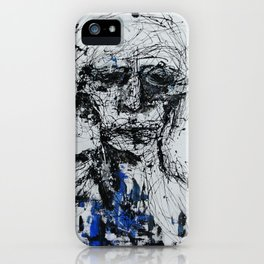 blue man iPhone Case