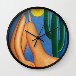 Abaporu - Tarsila do Amaral - Exhibition Post Wall Clock