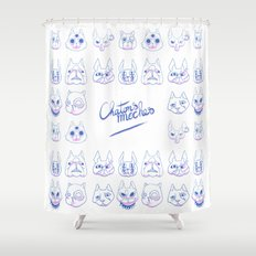 Chatons moches (Ugly Kitties) Shower Curtain