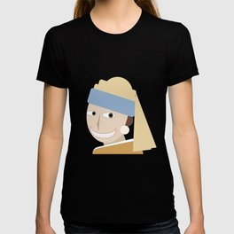 Smiling Girl with a Pearl Earring T-shirt