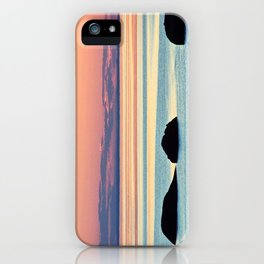 Circle of Rocks and the Sea at Dusk iPhone Case