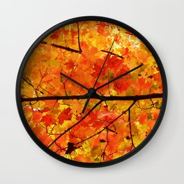Sugar Maple Leaves in the Fall Light Wall Clock