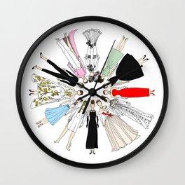 Audrey Hepburn Circle Fashion Wall Clock