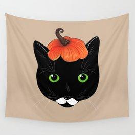 Pumpkin Kitty Wall Tapestry