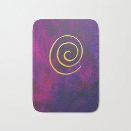 Philip Bowman Infinity Deep Purple And Gold Abstract Modern Art Painting Bath Mat