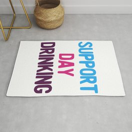 Support Day Drinking Vintage Retro 80s and 90s Style Party product Rug