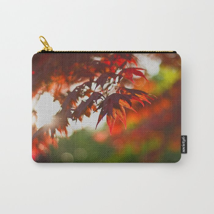 Indian Summer III Season Autum red Leaves Fall #Society6 Carry-All Pouch