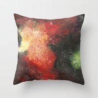 cosmic Throw Pillows featuring Cosmic by Bleriot