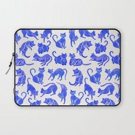 Cat Positions – Blue Palette Laptop Sleeve