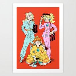 Gakuran Princesses Art Print