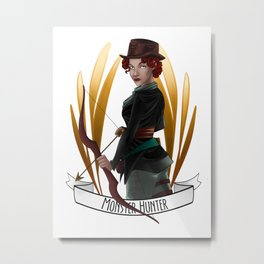Steampunk Occupation Series: Monster Hunter Metal Print